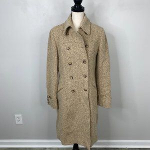 Weekend By MaxMara 100% Wool Trench Coat Size 12